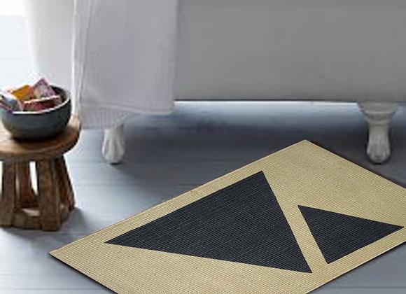 Jute Door Mat - 75 x 50 : triangle charcoal