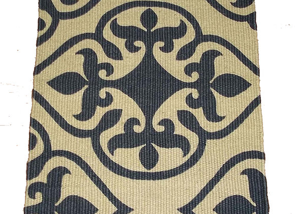 Jute Door Mat - 75 x 50 : baroque charcoal