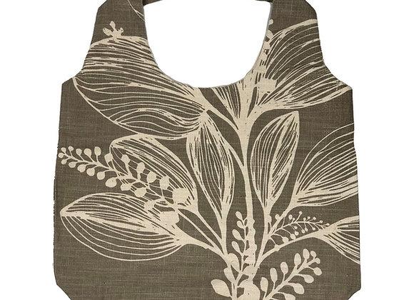 Slub Cotton Shopper -Taupe  Reverse Foliage