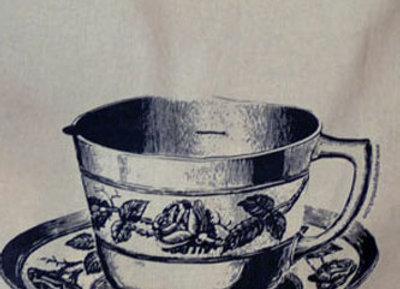 Folded Calico Tote Teacup