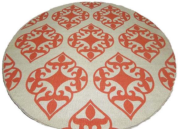Round Printed Jute Mat : guava
