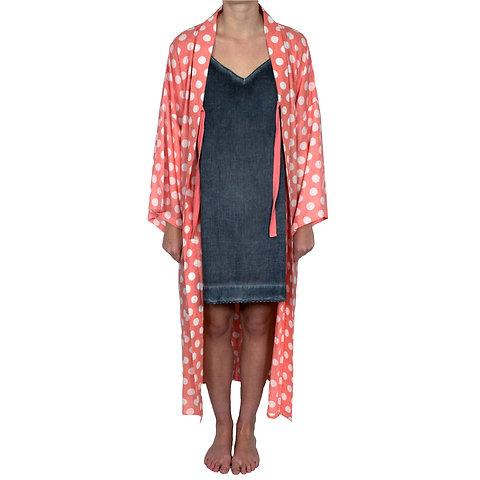 material seleccionado estilo clásico de 2019 venta caliente barato Polka Dot Mango Kimono