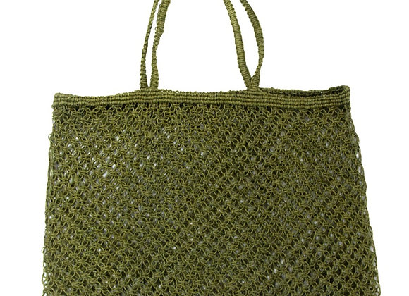 Jute String Shopper Olive