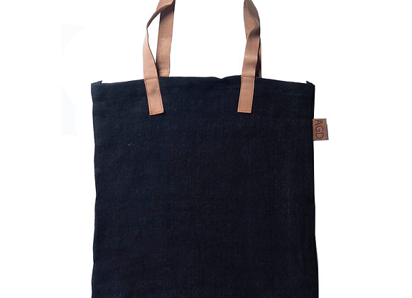 Leather Handle Tote Smoke