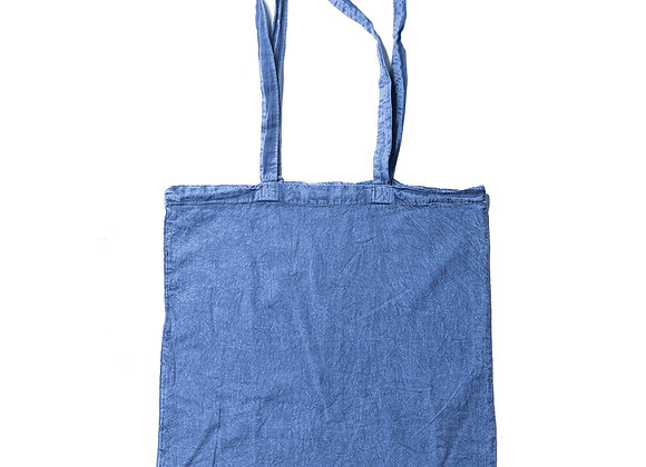 Stonewash Calico Tote Denim