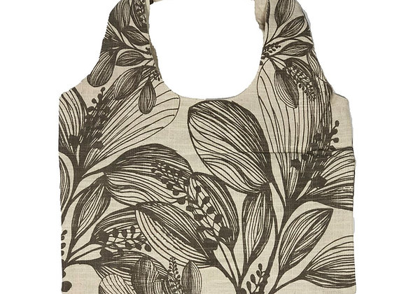 Slub Cotton Shopper -Taupe  Foliage
