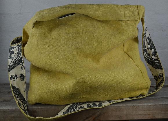 Washed Jute bag Citron