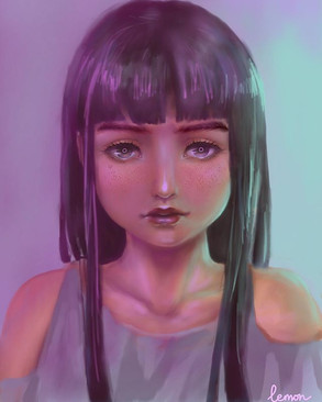 A girl in neon lighting _It was so hard