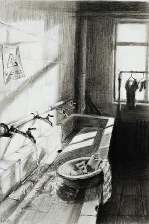 skech -  Bathroom in Art Training School