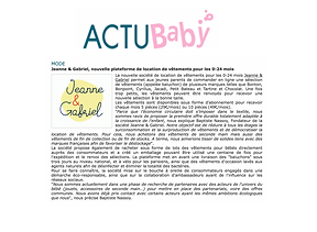 Article Actubaby