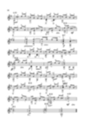 Sheet music. Composer V. Dzyabenko. Polyphonic piece for classical guitar. Page 56. Continued.