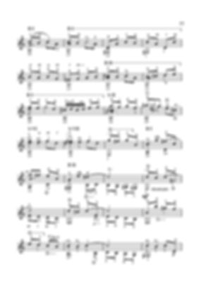 Score for guitar Valery Dzyabenko. Invention in C Major - continued. page 77