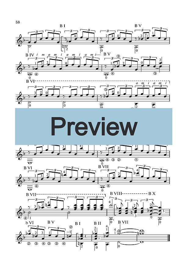 Ноты композиции для классической гитары . страница 2.