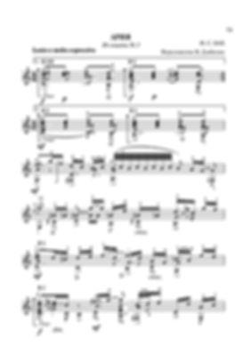 Ноты переложения для гитары арии из сюиты № 3 И. С. Баха. стр. № 73