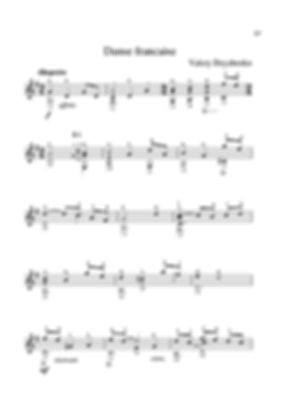 Score for guitar Valery Dzyabenko. French dance.  page 37