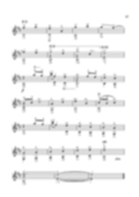 Score for guitar Valery Dzyabenko. A little impromptu - continued. page 47