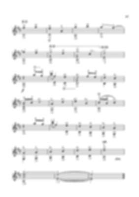 Ноты маленького экспромта - пьесы для гитары Валерия Дзябенко. стр. № 47