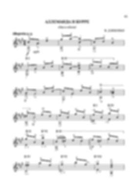 Ноты аллеманды и бурре - полифонической пьесы для гитары Валерия Дзябенко. стр. № 61