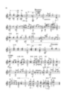 Score for guitar Valery Dzyabenko. Bourrée and Gavotte in D Minor.page 68