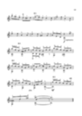 Sheet music. Composer V. Dzyabenko. Allegretto for classical guitar. Page 52. Continued.