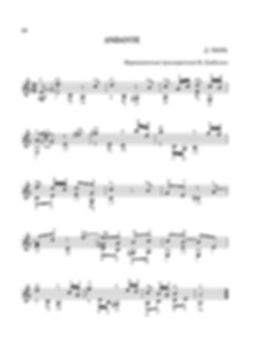 Ноты менуэта ля минор  Д. Г. Тюрка - переложение для гитары. стр. №  20