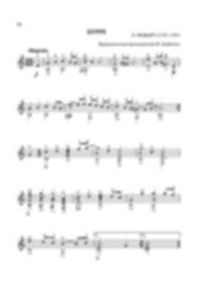 Ноты бурре ми минор Леопольда Моцарта - переложение для гитары. стр. № 24