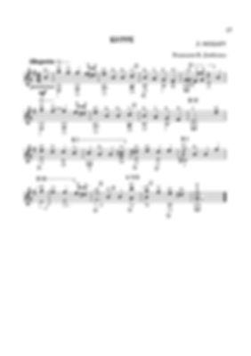 Ноты бурре ми минор Леопольда Моцарта - переложение для гитары. стр. № 27