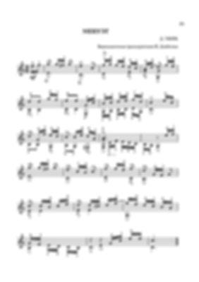 Ноты менуэта Давида Готлоба Тюрка.- переложение для гитары. стр. № 35