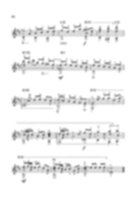 Ноты ариозо - полифонической пьесы для гитары Валерия Дзябенко. стр. № 66