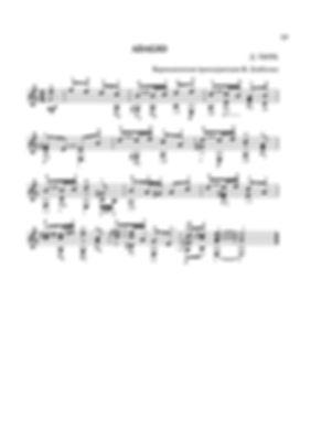Ноты адажио ля минор  Д. Г. Тюрка - переложение для гитары. стр. № 19