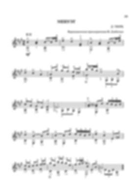 Ноты менуэта Давида Готлоба Тюрка.- переложение для гитары. стр. № 39
