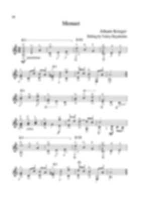 Score for guitar by Johann Krieger. Menuet. page 28