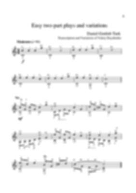 Sheetmusic.Composer D.G. Turk.Easy polyphonic piece for guitar and variation. page 9.Noten. Einfaches polyphones Stück für Gitarre und Variation. Seite 9.Partitura. Peça polifônica fácil para guitarra e variação. página 9.Partitura. Pieza polifónica fácil para guitarra y variación. página 9.Sheetmusic. Píosa polafónach éasca don ghiotár agus don athrú. lch 9.Nodeblad. Let polyfonisk stykke til guitar og variation. side 9.Partition. Pièce polyphonique facile pour guitare et variation. page 9.Sheetmusic. Lätt polyfoniskt stycke för gitarr och variation. sida 9.Noty. Snadná polyfonická skladba pro kytaru a variace. strana 9.シートミュージック。 ギターとバリエーションのための簡単なポリフォニック作品。 9ページ。Nota. Gitar ve varyasyon için kolay polifonik parça. sayfa 9.Muzyka arkuszowa. Łatwy utwór polifoniczny na gitarę i wariację. strona 9.Kotta. Könnyű többszólamú darab gitárhoz és variációhoz. 9. oldal.Sheetmusic. Лесно полифонично парче за китара и вариация. страница 9.Sheetmusic. Εύκολο πολυφωνικό κομμάτι για κιθάρα και παρ