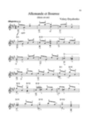 Score for guitar Valery Dzyabenko. Allemande and Bourrée. page 61