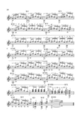 Score for guitar Valery Dzyabenko. Prelude in D minor - continued.  page 58