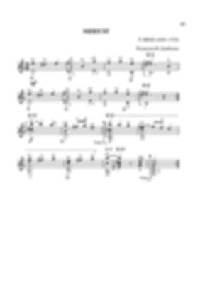 Ноты менуэта ми минор  Роберта де Визе.- переложение для гитары. стр. № 23