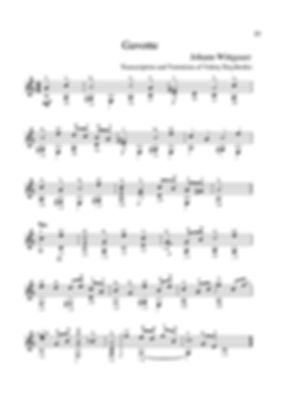 Score for guitar Johann Wittgauer .Gavotte. page 21
