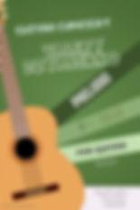 Обложка для нот прелюдии ре минор для классической гитары.