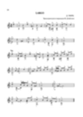 Ноты ларго ля минор  Д. Г. Тюрка - переложение для гитары. стр. № 18
