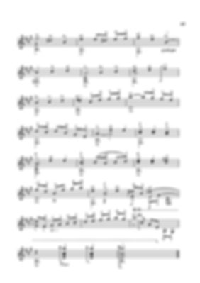 Score for guitar Valery Dzyabenko. Menuet - continued. page 49