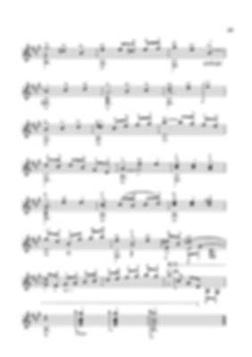 Ноты менуэта - пьесы для гитары Валерия Дзябенко. стр. № 49
