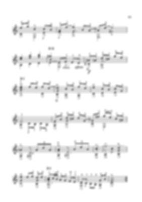 Score for guitar Valery Dzyabenko. Sarabanda - continued.  page 51
