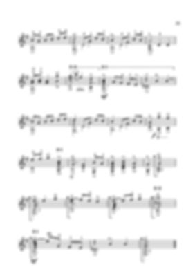 Sheet music. Composer V. Dzyabenko. English dance for guitar. - Page 31. continued