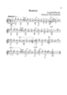 Score for guitar by Leopold Mozart. Bourrée ( e-moll ).page 27