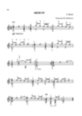 Ноты менуэта Роберта де Визе.- переложение для гитары. стр. № 40