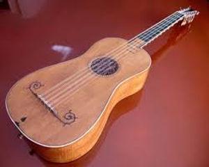 Photo d'une vieille guitare classique par un maître italien.