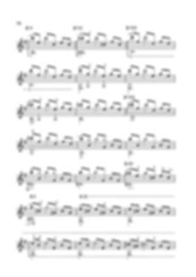 Score for guitar Valery Dzyabenko. Toccata in E minor - continued. page 70