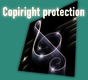 Copyright protection from unauthorized downloading and copying of scores.