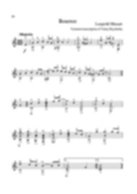 Score for guitar by Leopold Mozart. Bourrée. page 24