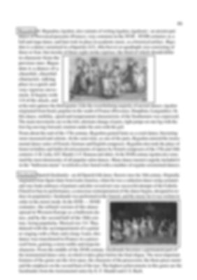 The history of musical genres in polyphonic music with pictures - rigodon and saraband. continuation. page 85